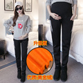 Autumn and winter pregnant women pants thick trousers leisure sports warm support plus cashmere pregnant women pants