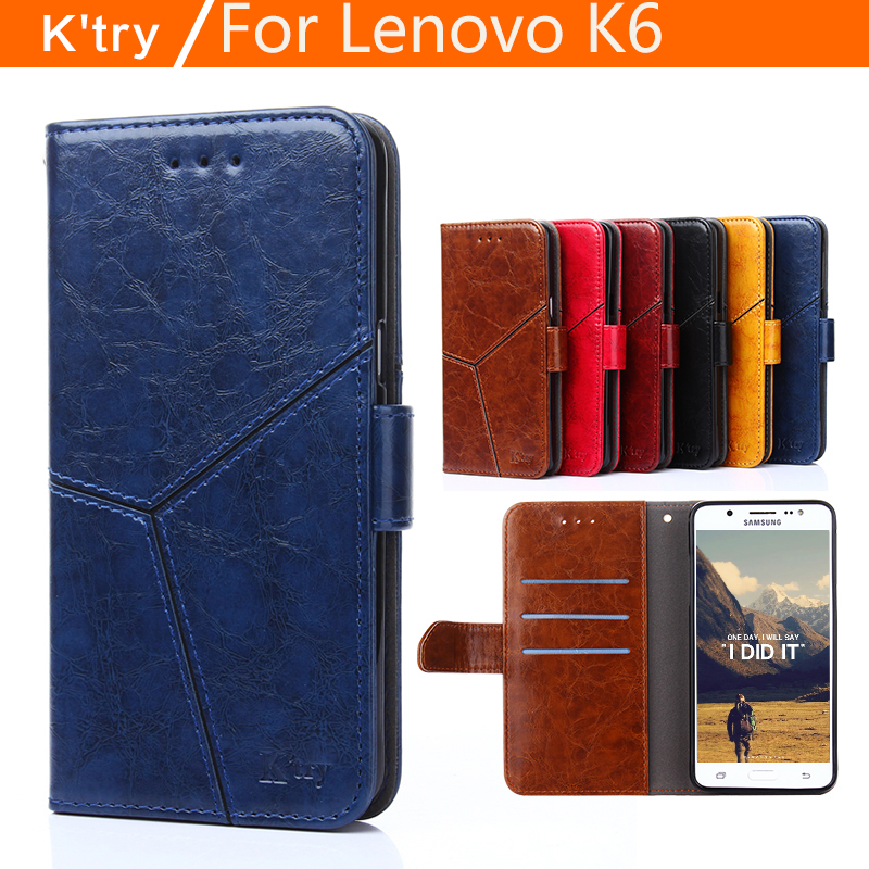 Lenovo k6 case cover leather luxury water cube pu flip case for Lenovo k6 cover case 4 style Lenovo k 6 case cover