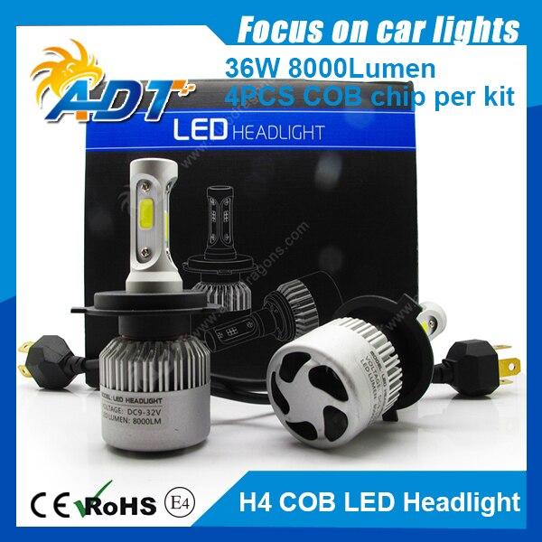 S2 9007 H7 high/low beam LED Headlight COB 12V 72W 8000LM 6500K super bright white car H1 H3 H4 H8 H9 H10 H11 H16 9005 9006 12v led light auto headlamp h1 h3 h7 9005 9004 9007 h4 h15 car led headlight bulb 30w high single dual beam white light