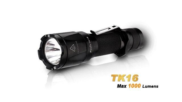 2018 Новый Fenix TK16 Cree XM L 2 (U2) светодиодный фонарик 5 режимов Max 1000 люмен Водонепроницаемый спасательной Поиск тактический фонарь фонарик