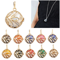 H051 To Be Mum Gold Plated Cage Harmony Bola Pendant Pregnancy Chime Ball Necklace Angel Caller