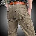 100% Cutton alta calidad de hombre pantalones Cargo pantalones casuales para hombre pantalón multibolsillos militar en general al aire libre pantalones largos más el size30-42