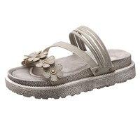New Style Fashion Women Platform Floral Open Toe Shoes Bohemia Beach Anti Skidding Flat Sandals Summer