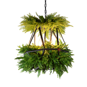 Image 1 - LED Hanging Gardens of Babylon Plants Lamp Pots Potted Nordic Tom Creative Chandelier Lighting Bulb Art Pendant Lamp With Bulb