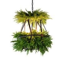 Led pendurado jardins de babylon plantas lâmpada vasos nordic tom criativo lustre iluminação lâmpada pingente de arte com lâmpada|Luzes de pendentes| |  -