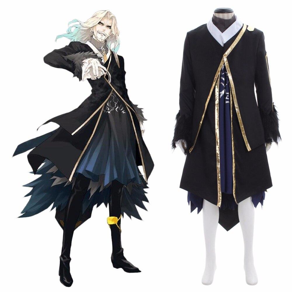 Herren Anime Maß US75 Kostüm Vlad Erwachsene Fate Apocrypha L0516 11OFF Schwarz von 65 in Kleid Mantel Kostüm Multicolor III Cosplay Lancer Y92IDWEH
