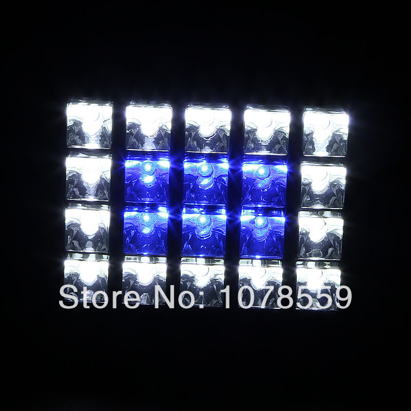 Newest Sign 60W LED Aquarium Flood Light White Blue Bright For Coral Reef fishes and aquatic animals Tank IP65 20X3W Flood lamp