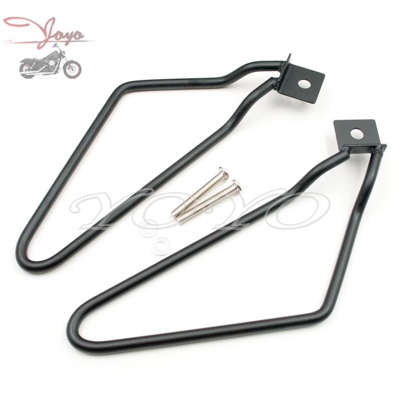 Saddlebag Bracket Support For Harley Sportster XL 883 1200 Softail Slim Fat Boy Deluxe Cross Bones