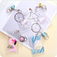 Cute unicorn card case Key holder Bank Credit Card Holders Card Bus ID Holders Identity Badge with Cartoon Kid Birthday Gift(China)