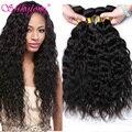 4 Связки Малайзии Девы Волос Естественная Волна 7А Необработанные Девственные Волосы Человеческие Волосы 100% Переплетения Малайзии Природных Волос