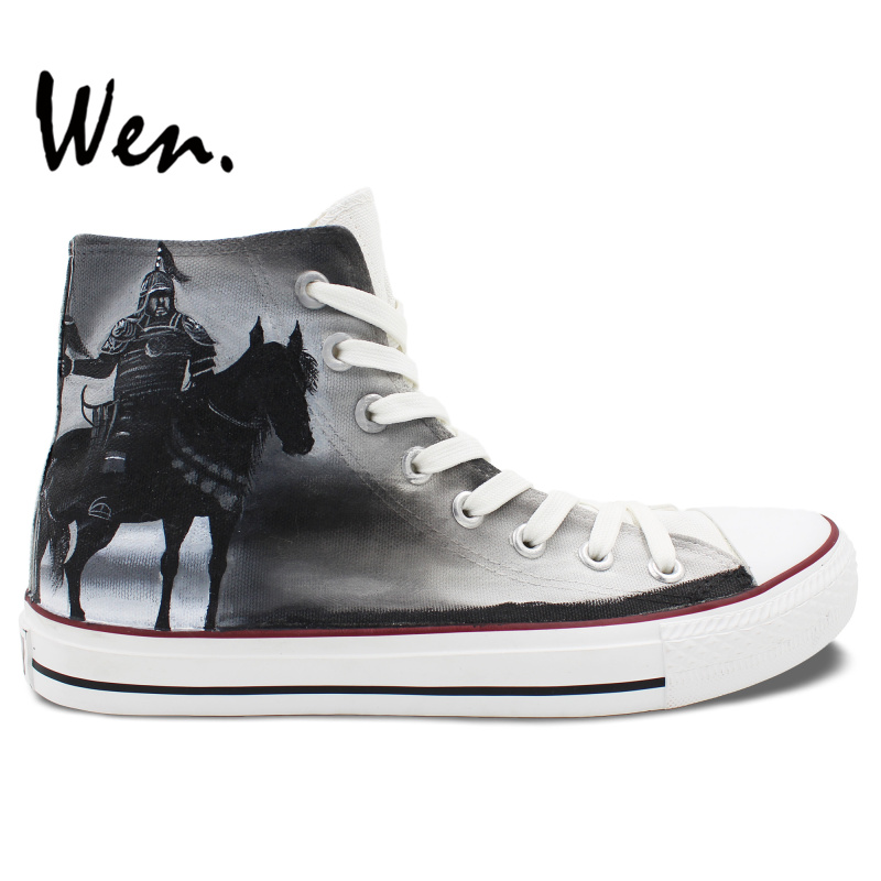 Wen Men s Hand Painted Shoes Design Custom 300 Rise of an Empire High Top Canvas