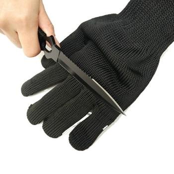 1/paar Zwart Werken Veiligheidshandschoenen Snijbestendige Beschermende Roestvrij Staaldraad Butcher Anti-Snijden Handschoenen