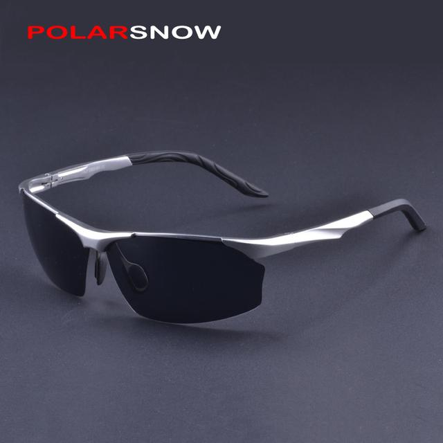 POLARSNOW Aluminio Magnesio Gafas de Sol Para Los Hombres gafas de Sol de Conducción Segura Gafas Accesorios Gafas de Sol de Calidad Superior