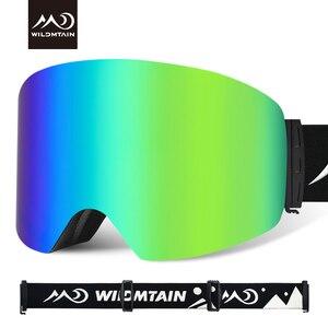 Image 4 - купон  65,78 руб Wildmtain Горнолыжные Очки с Антизапотевающее внутреннее покрытие и 100% от ультрафиолетового A B C излучения до 400нм сноуборда лыжные очки