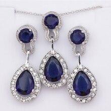 S003 Hot jewelry export jewelry jewelry luxury earrings water drops crystal zircon earrings necklace set