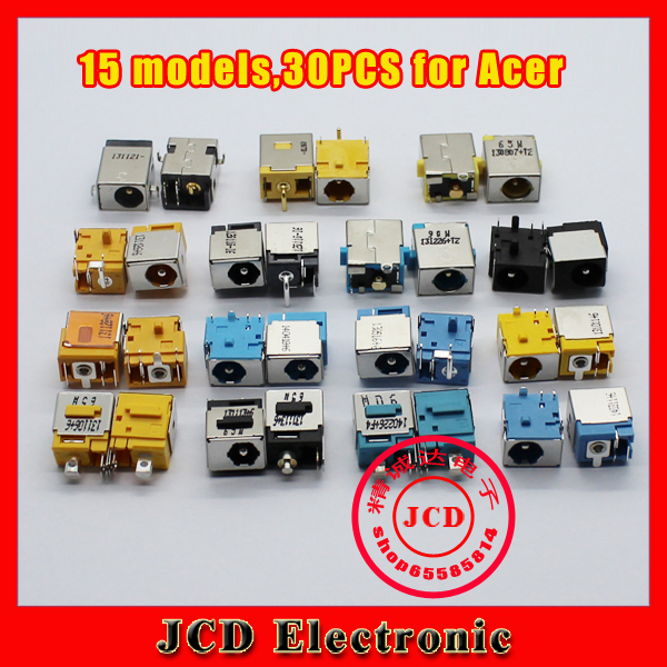 (15 models, 30 pcs) Brand New Laptop DC Jacks connector for ACER Series Laptop Power Interface