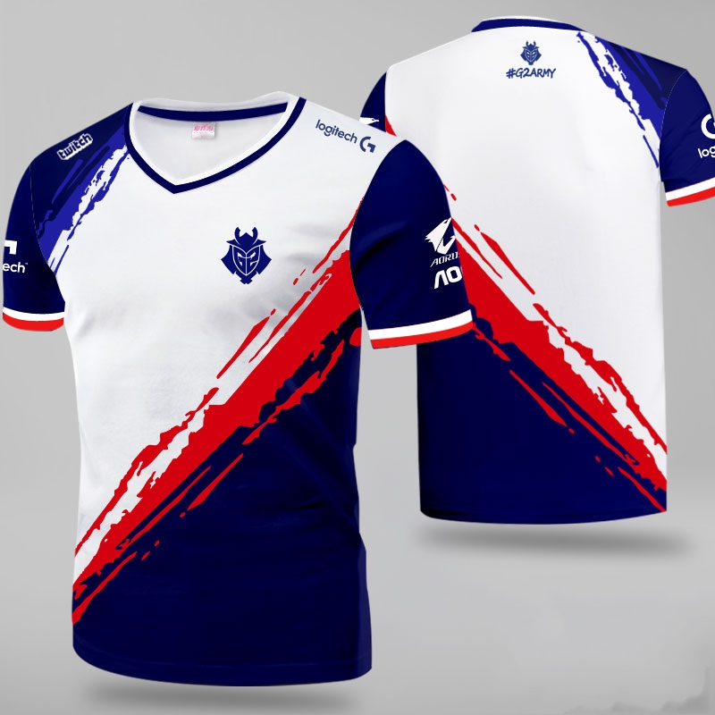 Customize Team Game Short Sleeve   T     Shirts   For League of Legends G2 Team esports suit 2019 LOL G2 jersey   T  -  shirt   casual Tops Tees