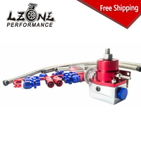 LZONE RACING FREE SHIPPING AE STYLE 7MGTE MKIII Fuel Pressure Regulator Red With Hose Line Kits