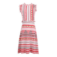 Runway Designer Small Fragrant Shiny Striped Brand Striped Knitting Dress 2018 Summer Women S Sleeveless A