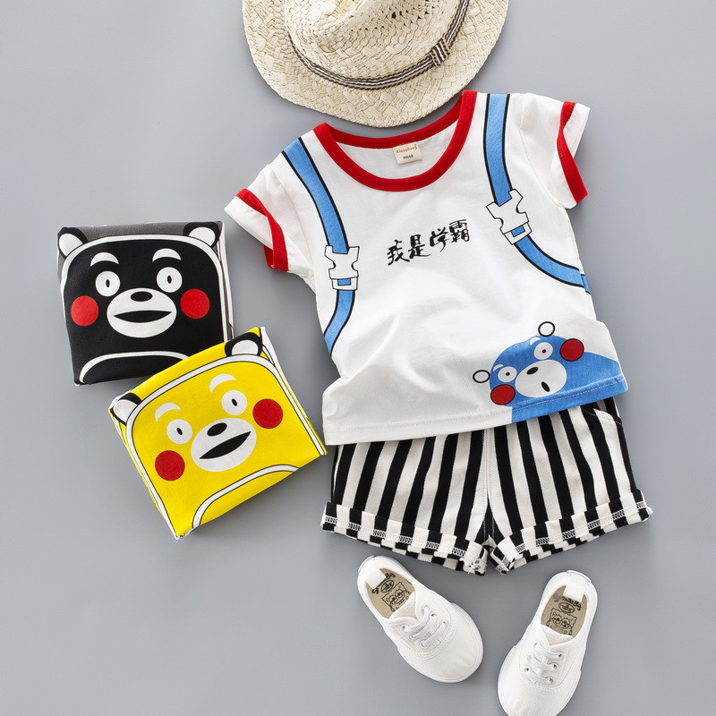 0-Four years Top quality boy woman clothes set 2019 summer time new cartoon lively child youngsters child clothes T-shirt+pant 2pcs Clothes Units, Low cost Clothes Units, Zero Four years...