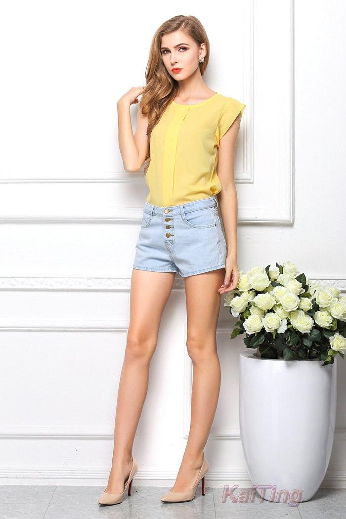HTB1yn2WGFXXXXbrXXXXq6xXFXXXB - Short Butterfly Sleeve Women Blouses Clothing Casual Chiffon Shirt