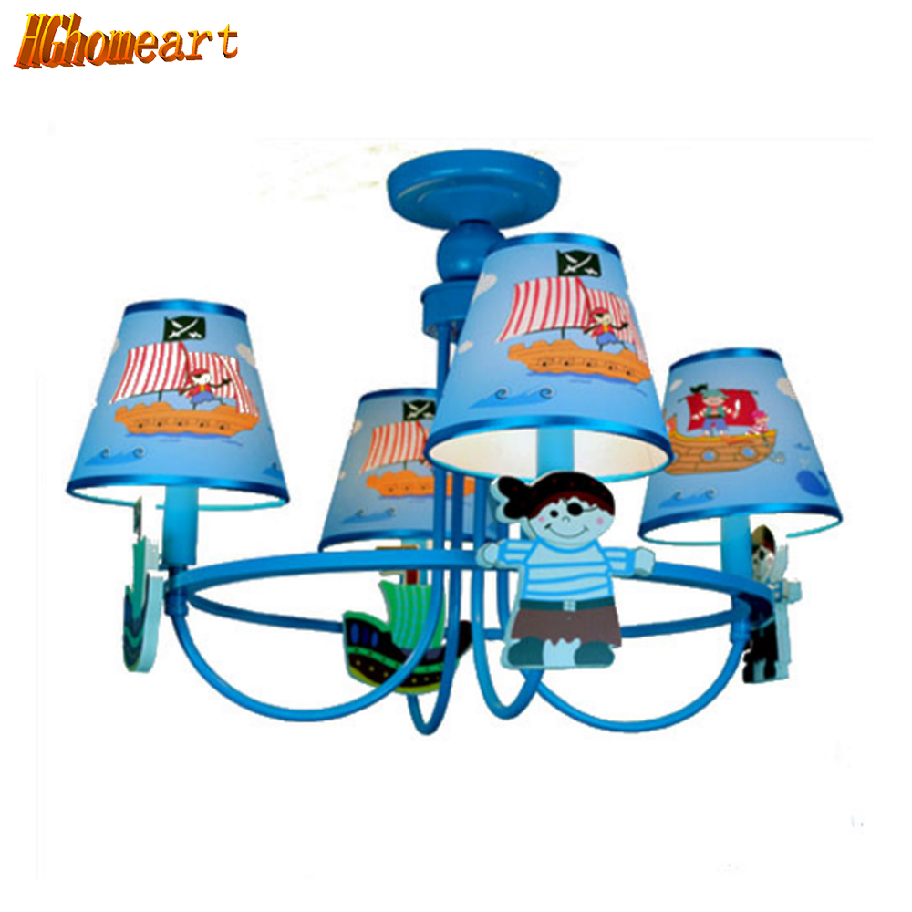 Hghomeart Nordic American Pirate Ship Cartoon Children Room Led Pendant Lights Boys and Girls Industrial Style Pendant Lighting 35w xenon hid kit car headlight bulbs slim ballast h4 h7 h8 h9 h11 h1 h3 h16 hb3 hb4 880 d2s 4300k 6000k 8000k 10000k 12000k