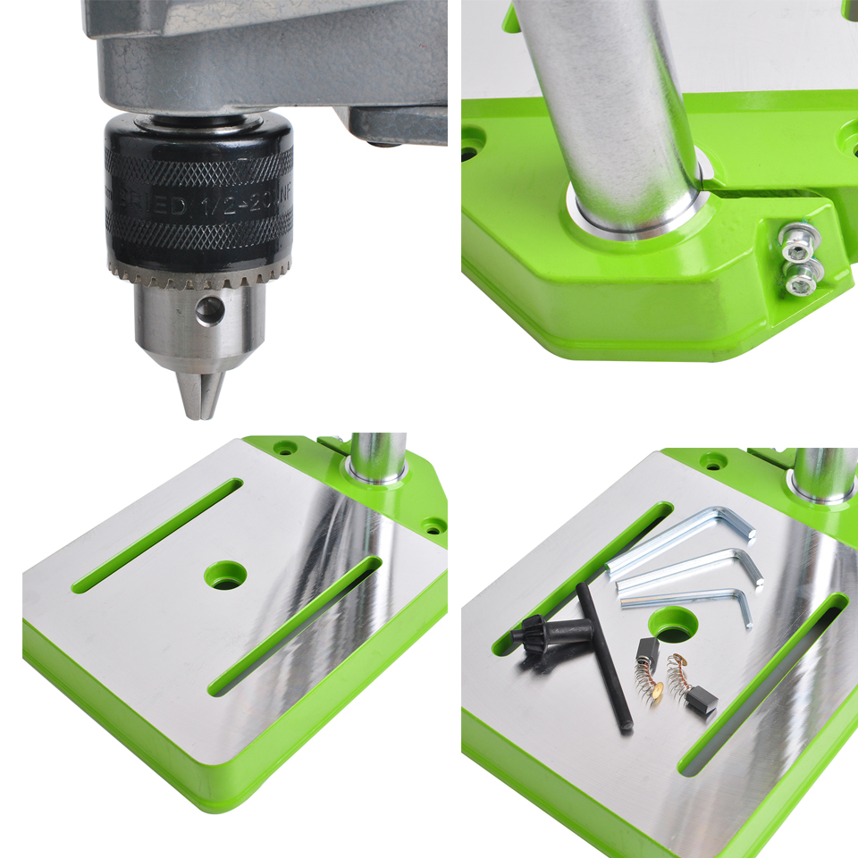 CNC Drilling Machine 220V 710W Drill Press Bench Small Electric Drill Machine Work Bench Gear Drive For DIY Wood Metal Electric
