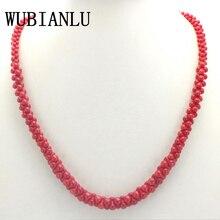 WUBIANLU colliers en corail naturel, 4 couleurs, en forme dos, pour femmes, bijoux en perles, cadeau à la mode, vente en gros