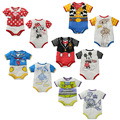 Retail 2015 new summer style short sleeve cotton girls baby rompers cartoon duck mouse toy story cosplay  newborn baby clothes