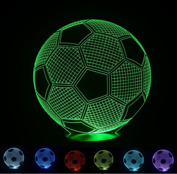 100 240v 3D optical illusion Sport football Soccer Bedroom decorative night  color change USB Touch. Online Get Cheap Soccer Bedroom Set  Aliexpress com   Alibaba Group