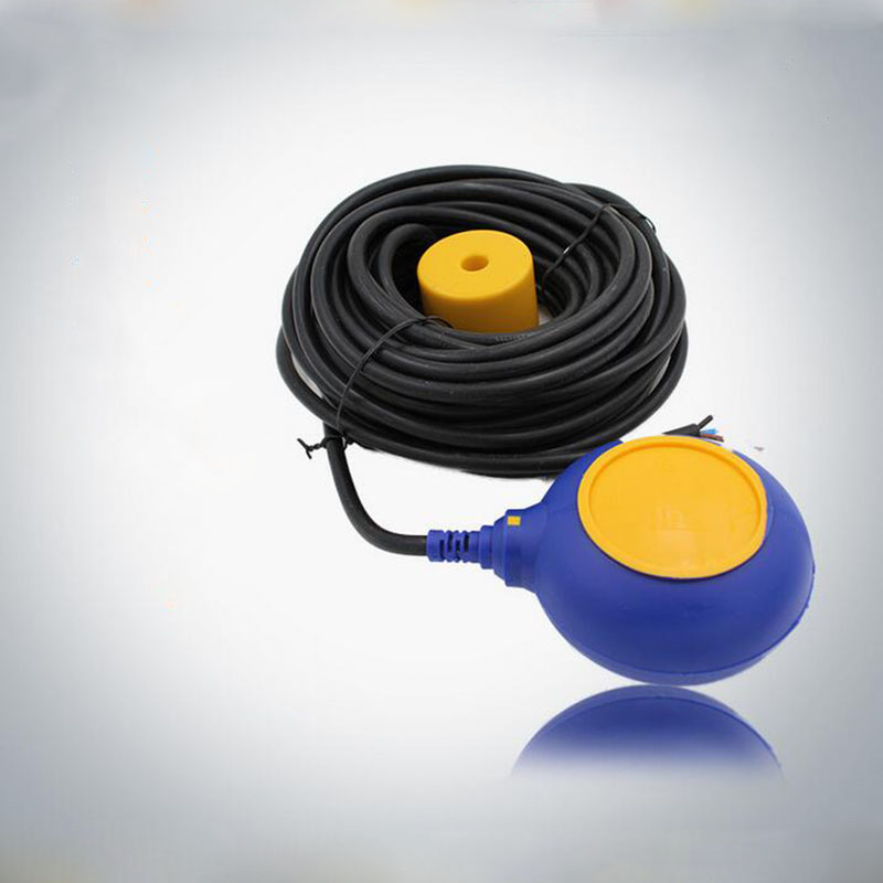 Float switch liquid level pressure switch IP68 220V 10A copper wire plastic Water Level control water pump float ball 4a 8a level float switch pp water level control for water pump water tower tank normally closed
