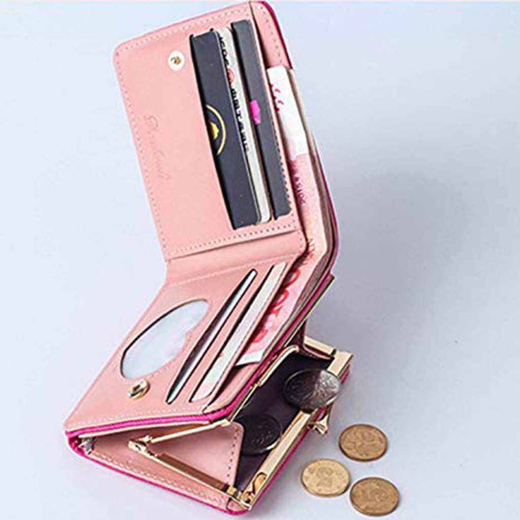 Женский модный короткий Стильный студенческий кошелек для карт, Многофункциональный складной кошелек для монет, кошелек Porte Monnaie Femme, сумка для ключей