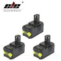 3 Pcs High Capacity P108 18V 4000mAh Li Ion For Ryobi RB18L40 P300 P400 Rechargeable Power