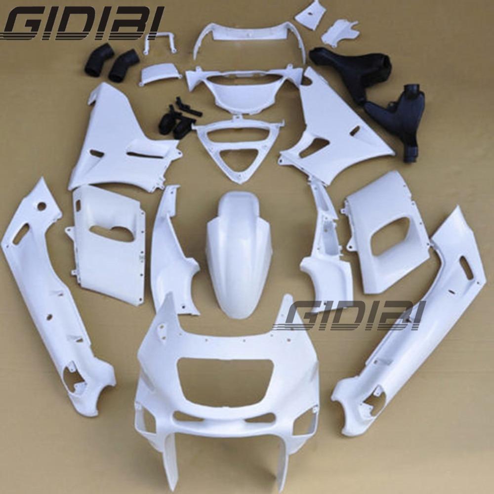 цена на Motorcycle Unpainted White Fairings BodyWork Kit For KAWASAKI ZZR-400 ZZR 400 1993-2007 01 02 03 04 05 06 +4 Gift