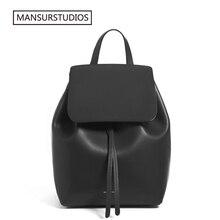 MANSURSTUDIOS kadın deri sırt çantası Mansur bayanlar gerçek deri sırt çantası, Gavriel kız deri okul çantası. Ücretsiz kargo