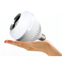 E27 B22 RBG LED Light Bulb 6W Bluetooth Speaker Stereo Audio Phone APP Remote Control Changing