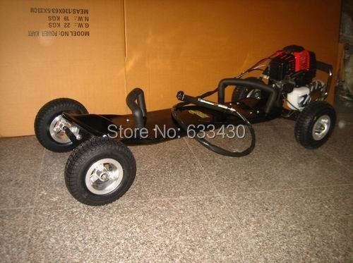 Hot!!Net weight 20kg 49cc Max speed 50km/h Rubber Four Wheel Gas Skateboard  Free shipping!!