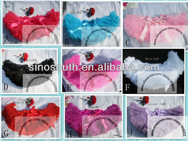 baby girls solid color dance chiffon fluffy tutu clothes pettiskirt party tutu skirt