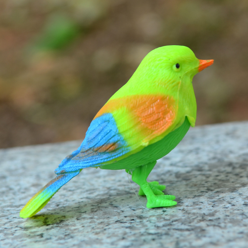 Novel Toy Creative Simulation Will Call The Lovely Color Sound Control Bird