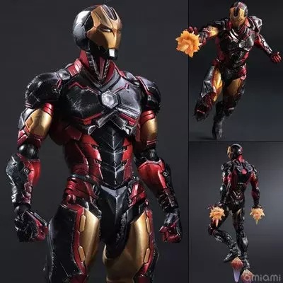 Play Arts Marvel The Avengers Super Hero Ironman Figure Black Armor Ver Toy Model 10 25cmPlay Arts Marvel The Avengers Super Hero Ironman Figure Black Armor Ver Toy Model 10 25cm