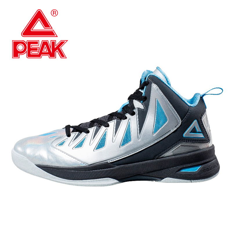 PEAK FIBA Speed Eagle II Men Basketball Shoes Basketball Ankle Boots Men Basketball  Cushion-3 Tech Athletic Boots High Top peak sport hurricane iii men basketball shoes breathable comfortable sneaker foothold cushion 3 tech athletic training boots