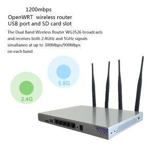 Image 2 - Беспроводной маршрутизатор OpenWrt 1200 Мбит/с, двухдиапазонный 802.11AC гигабитный Wifi роутер, чипсет MT7621A Ruter 4 * 5dBi антенна, английская прошивка