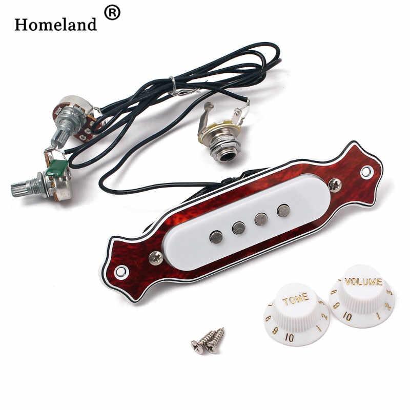 Гитарные магнитные аксессуары для пикапов Soundhole Prewired активный звукосниматель 4 струны для портсигар коробка аксессуары для гитары