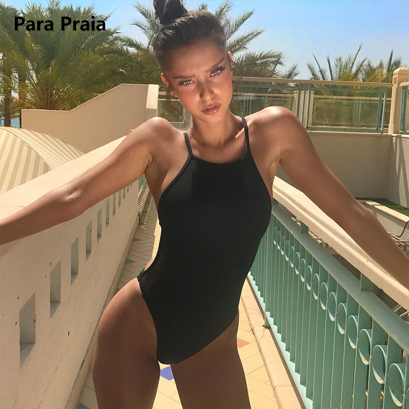2018 Thong One Piece Swimsuit Sexy Mesh Bodysuit Women Tops Hot Slim Bodycon Rompers Women Jumpsuit Cut Out Beach Wear Black XL sexy thong tanga one piece swimwear women swimsuit high cut leg cheeky female bodysuit jumpsuit summer hot beach wear