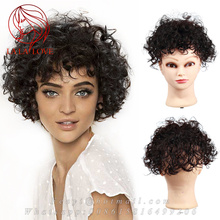 100% Human natural hair system curly toupee African lace Toupe for woman hair replacement hair integration clip hairpiece toupee