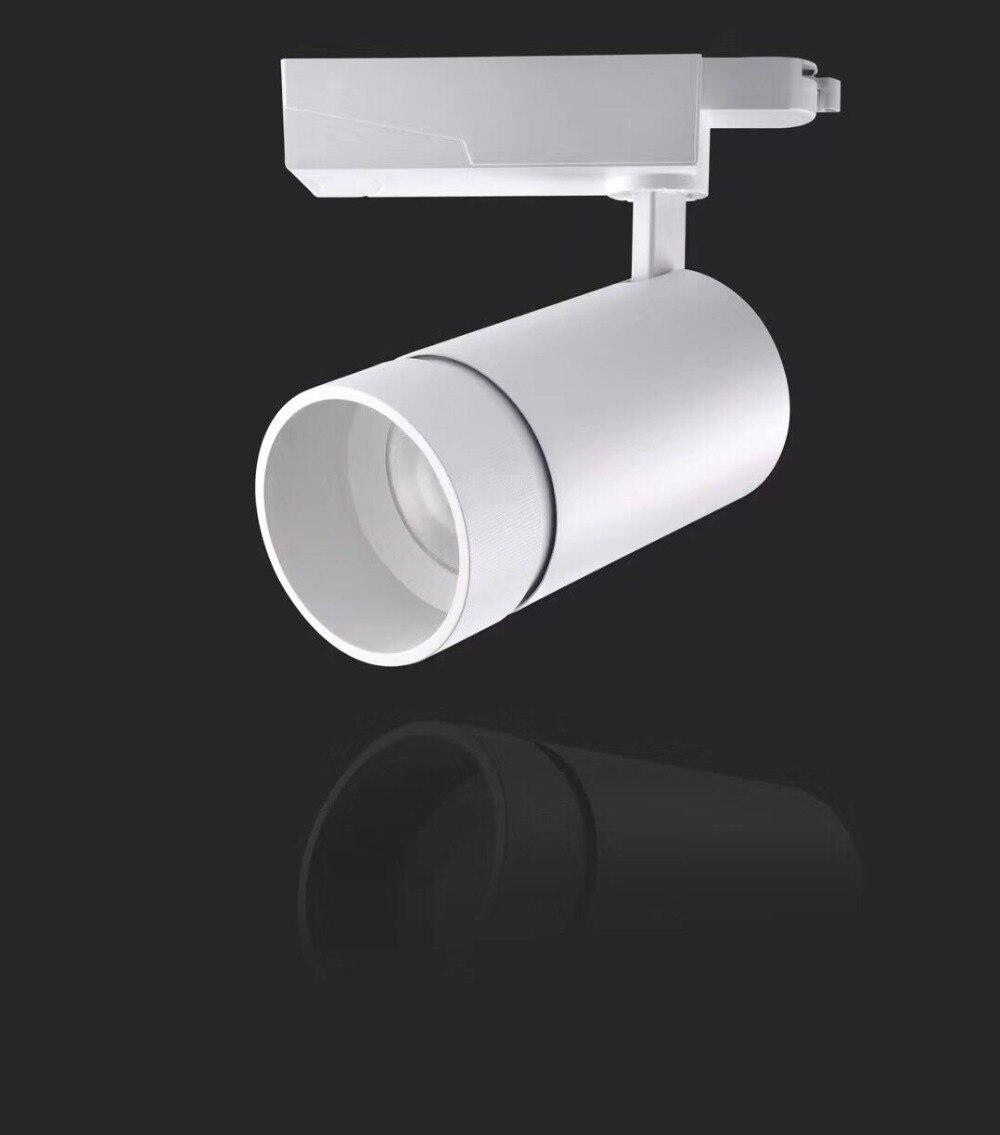 New Led Cob Track Rail Light 1pcs/lot 35w Spot Light Adjustable Rail Track Lighting Lamp For Mall Exhibition Office Black/white