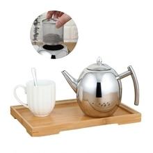 Нержавеющая сталь чайник для воды отель чайник толще с фильтром отель кофе горшок индукционная плита для ресторанов чайник