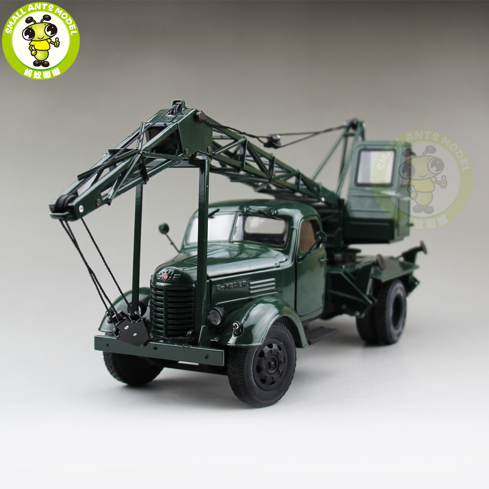 1 24 China Jiefang FAW Crane Truck Engineering vehicle Diecast Model Car Truck Gift Collection Hobby