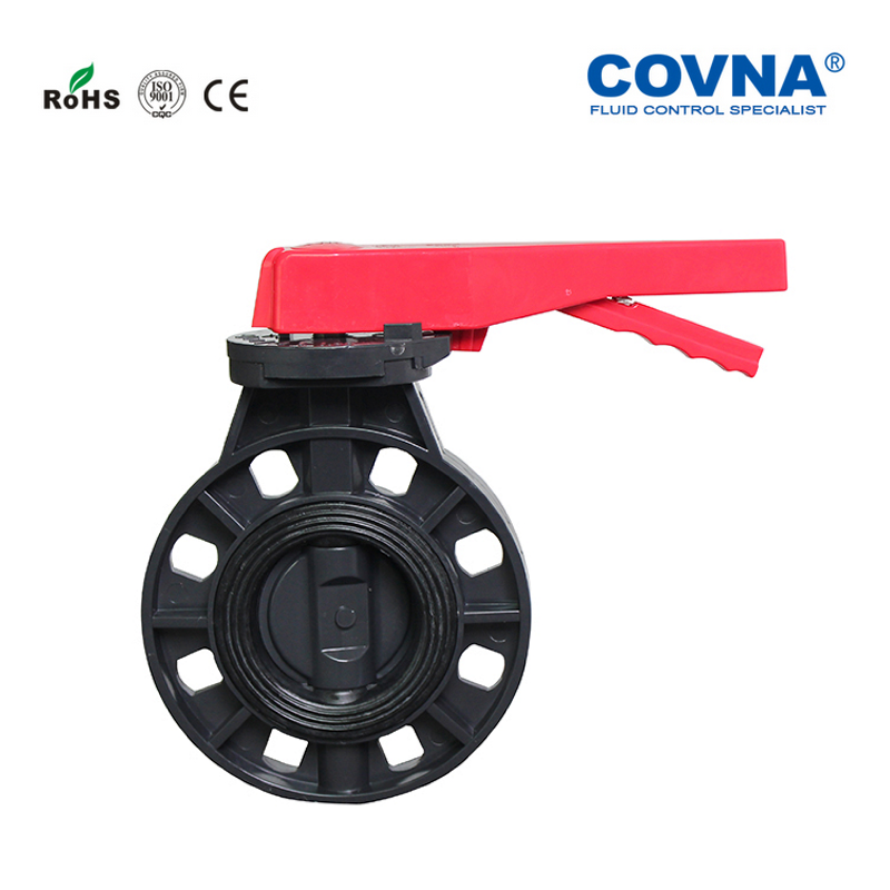DN150 PVC Manual Butterfly Valve EPDM Sealing 6'' Plastic Manual Butterfly Valve-in Valve from Home Improvement    1