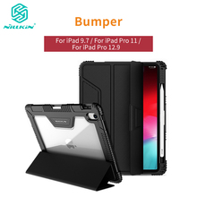 NILLKIN For iPad 9.7 Case Pro 11 Cover for 12.9 2018 Smart Flip with Pencil Holder Shockproof